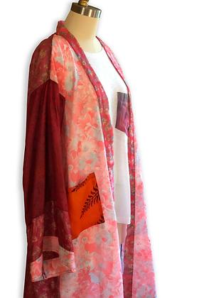 Pomegranate Silk Road Sari-Kimono