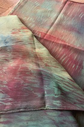 Painted Desert Silk Crepe De Chine Scarf