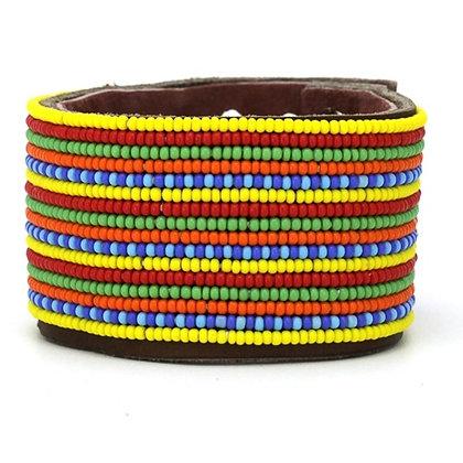 Multicolor Extra Wide Beaded Cuff