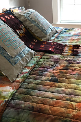 Evening in Nurla Velvet Coverlet