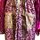 Thumbnail: Bhukara Plum Silk Road Sari-Kimono