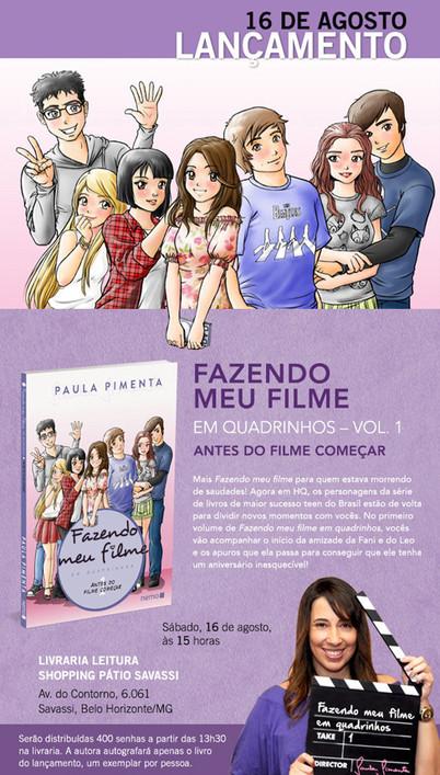 Lançamento de FMF em quadrinhos em Belo Horizonte