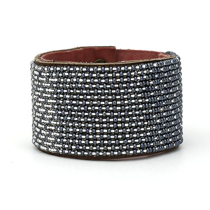 Twilight Ombre Extra-Wide Beaded Cuff