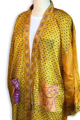 Marigold Silk Road Sari-Kimono