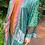 Thumbnail: Turquoise Wave Silk Road Sari-Kimono