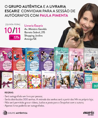 Sessão de autógrafos em Aracaju