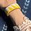 Thumbnail: Yellow Tri Wide Beaded Cuff