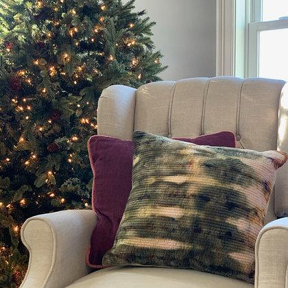 Olive Grove Velvet Pillow