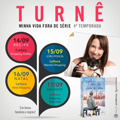 Lançamentos em Recife, João Pessoa, Natal e Salvador