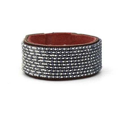 Twilight Ombre Wide Beaded Cuff