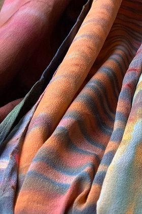 Tiger's Eye Crepe De Chine Silk Scarf