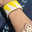 Thumbnail: Yellow Tri Extra Wide Beaded Cuff