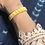 Thumbnail: Yellow Tri Skinny Beaded Cuff
