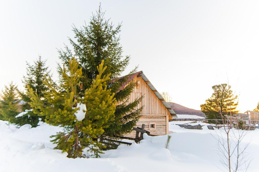 Зима на базе отдыха