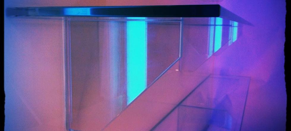 Bonded glass shelving