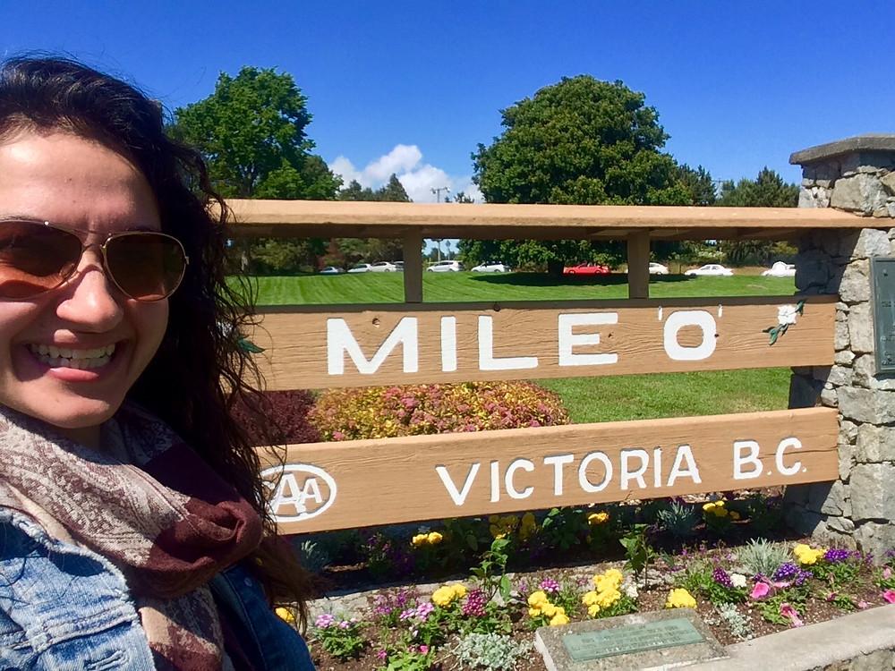 Mile 0 Monument in Victoria BC