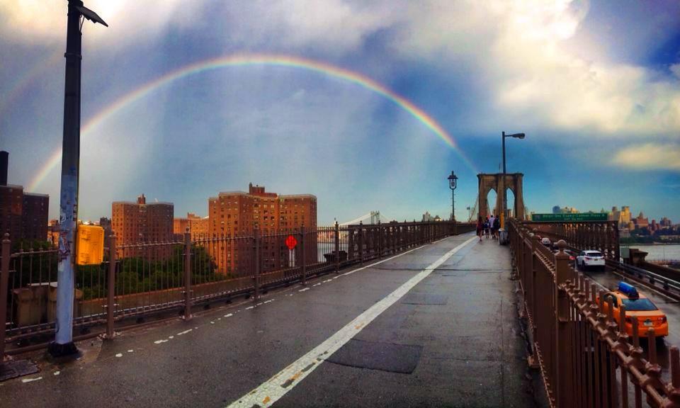 Rainbow Over Brooklyn Bridge