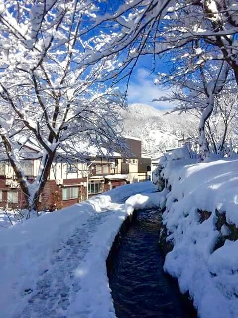 Onsen River in Nozawa