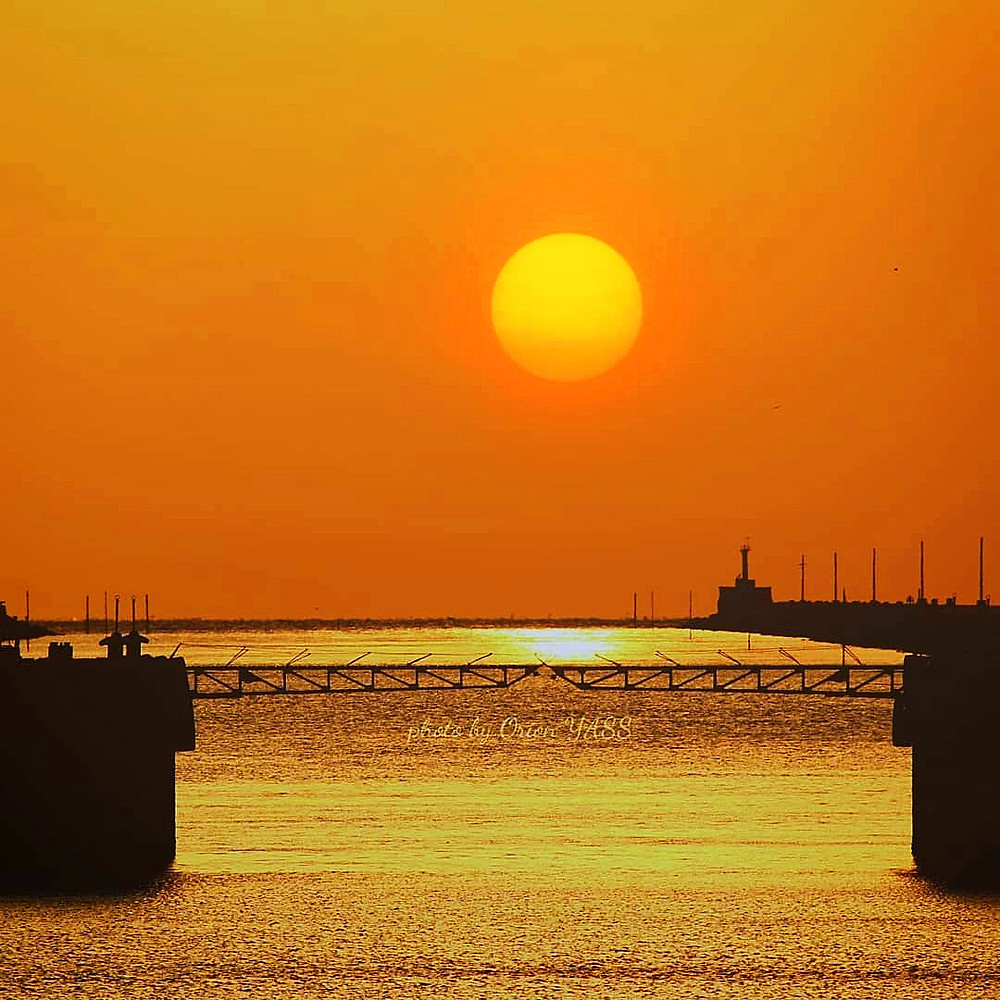 Sunset at Miike Port