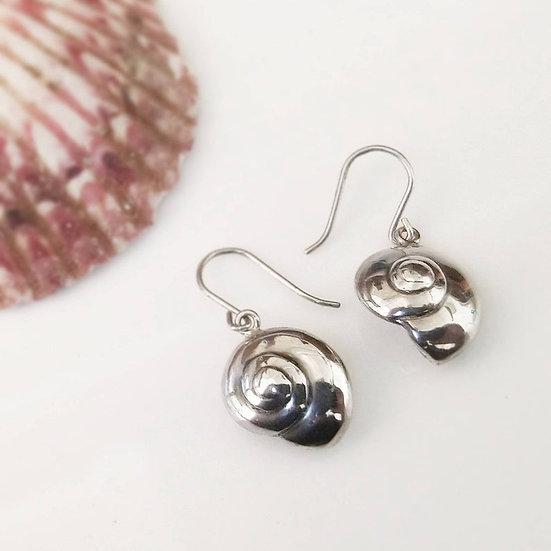 Sterling silver handmade shell earrings