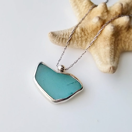 Sterling Silver Sea Glass Pendant