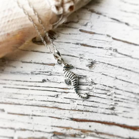 Sterling silver small seahorse pendant uk