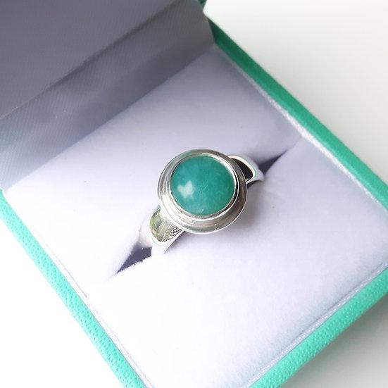 Handmade Sterling Silver Amazonite Gemstone Ring
