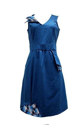 "Vestido ""Origami - Azul Xadrez"""
