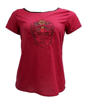 """Blusa """"Frida - Vermelha"""" Botões"""