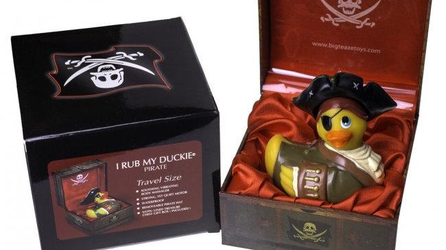 Big Teaze Toys I Rub My Duckie Pirate Yellow Small