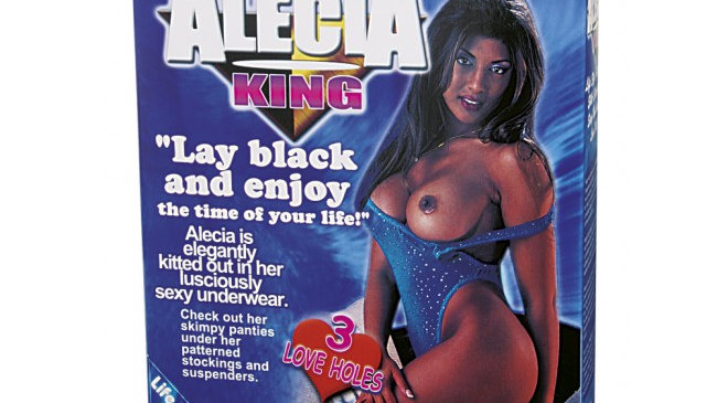 Nanma Alecia King Life Size Love Doll With 3 Penetrating Holes Flesh Black