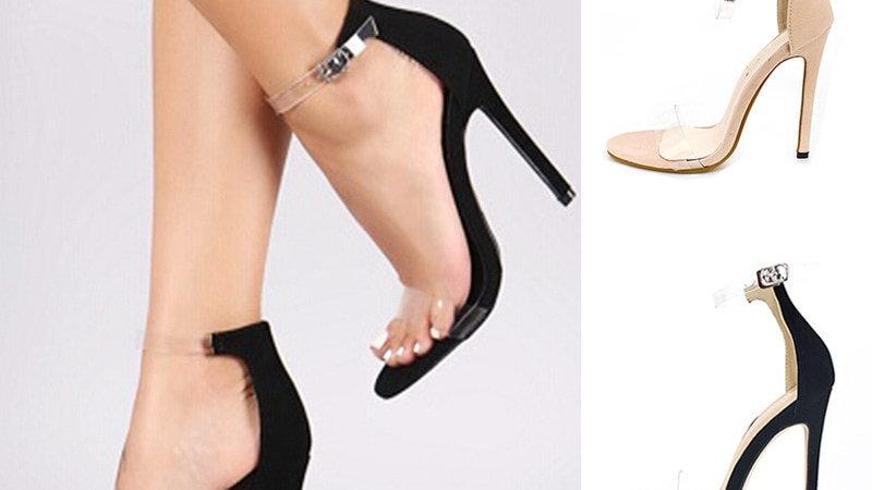 Classic Sandals Women Shoes Extreme High Heels PVC Jelly Transparent Shoes