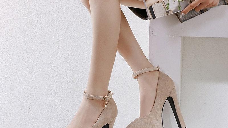 NIUFUNI Women Pumps Fashion 14cm High Heels Wedding Shoes Platform Pumps