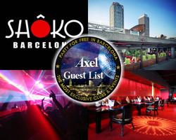 SHOKO BARCELONA | AXEL VIP GUESTLIST