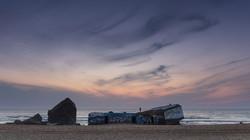 Blockhaus dans les Landes, Cap Breton, plage de la piste