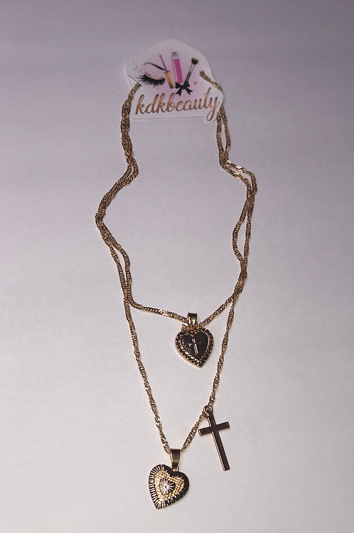 Heart on Lock Necklace