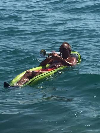 Probe-Session im Meer