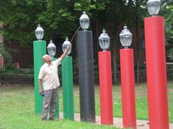 Lighting the Mishumaa Saba