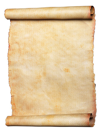 Vintage scroll or parchment manuscript i