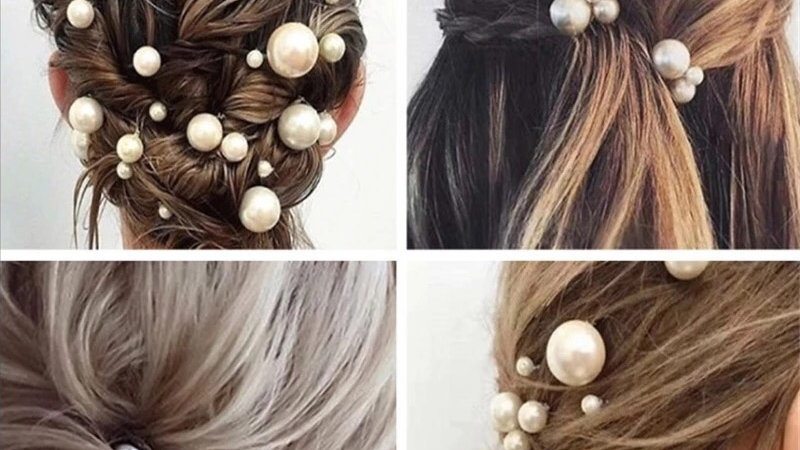 Silver bridal pins