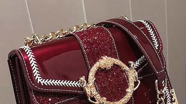 Red with Gold buckle clutch