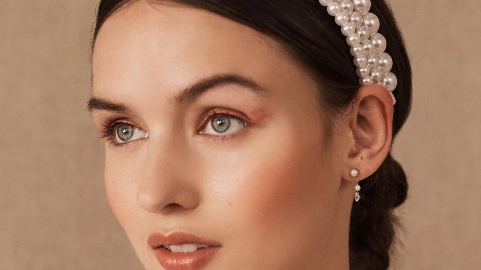 Three piece pearl headband