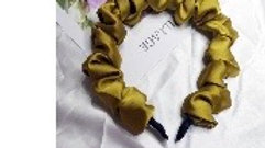 Satin Olive  head band