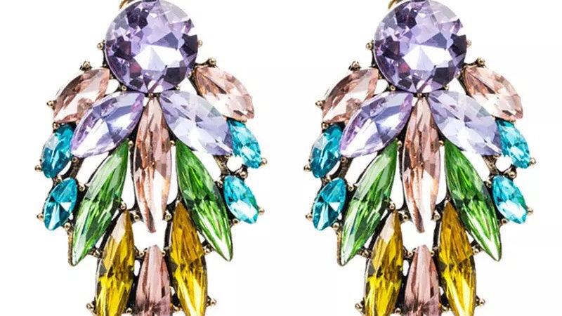 Multicoloured stud earrings
