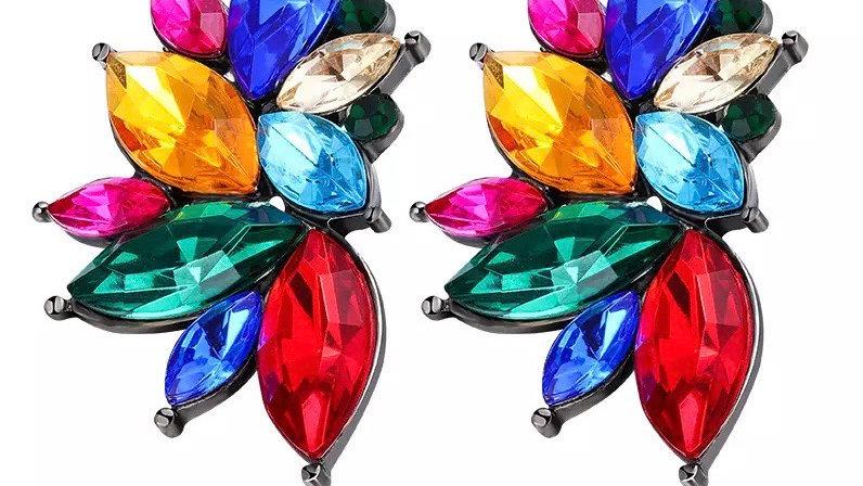 Multicolured earring