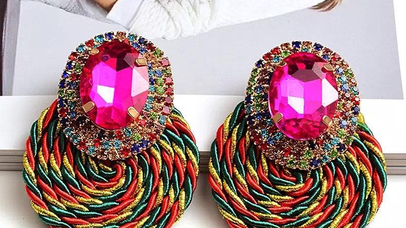 Pinks multicoloured earring