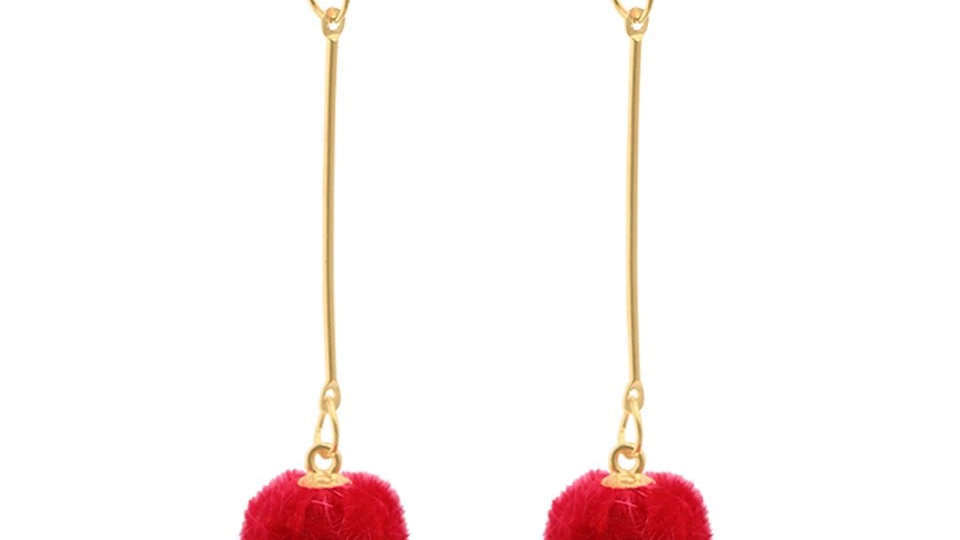 Red long with four earring