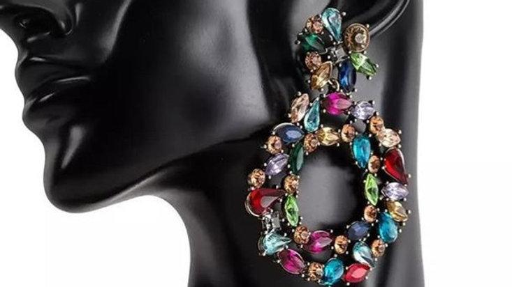 Multicoloured big earrings