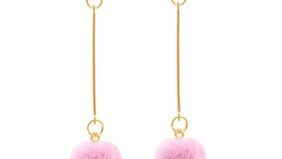 Pink with flur earring