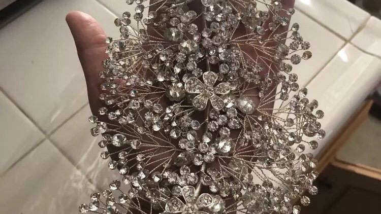 Silver bridal accessories 3weeks delivery
